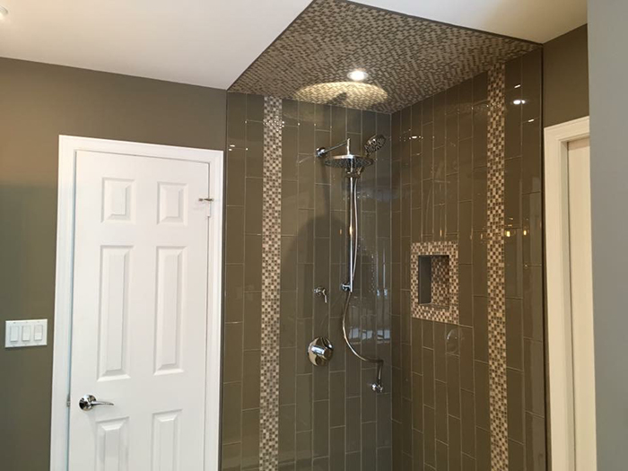 modern shower and tub bathroom renovation